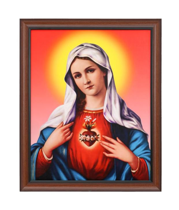 Elegant Arts And Frames Textured Immaculate Heart Of Mary Painting