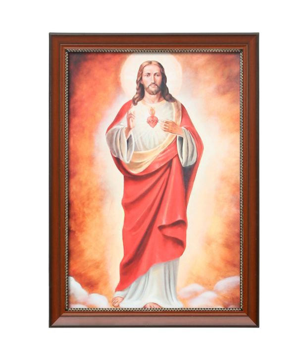 Elegant Arts And Frames Textured Sacred Heart Painting