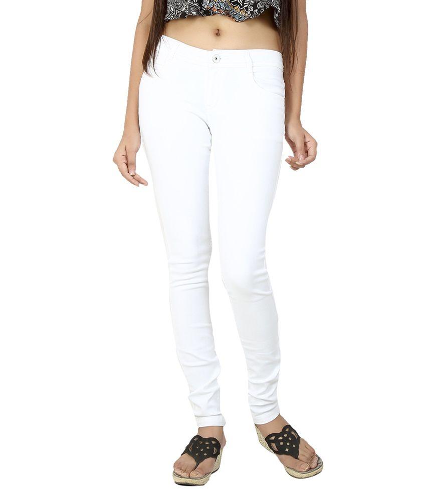 Fck-3 White Denim Jeans
