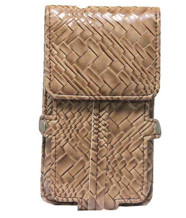 Jo Jo Synthetic Pouch Cover For Samsung Galaxy Mega2 - Brown