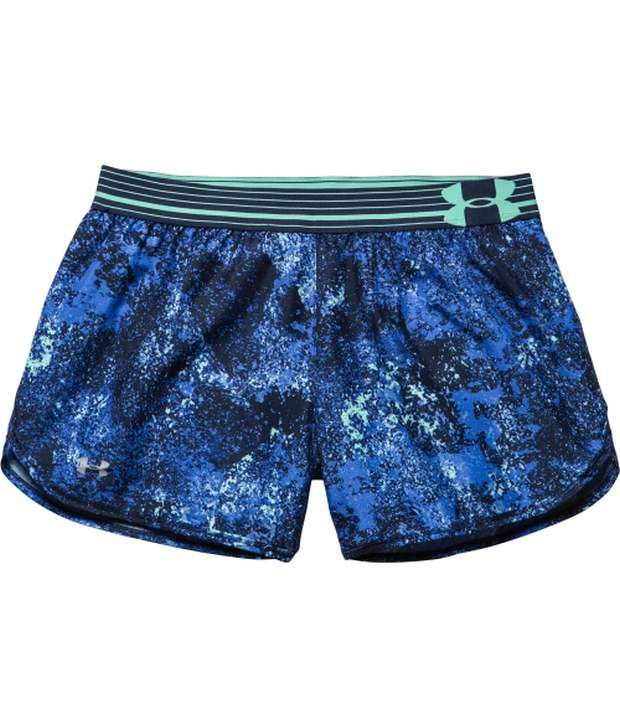 Under Armour Under Armour Blue Womens Perfect Pace Printed Running Shorts (pack Of 2)