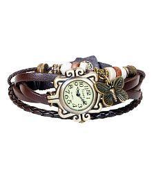 Gazal Fashions Brown Analog Leather Watch for Women