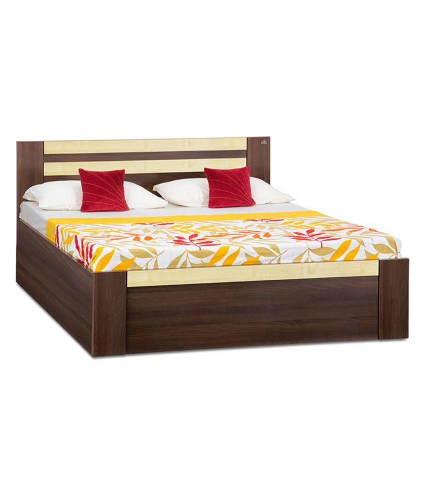 Debono Woody King Size Solid Wood Manual Lift Storage Bed