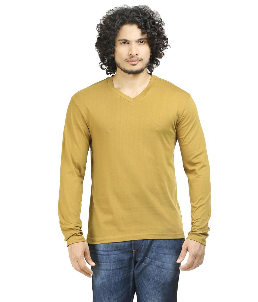 Oviyon Khaki Cotton T-shirt