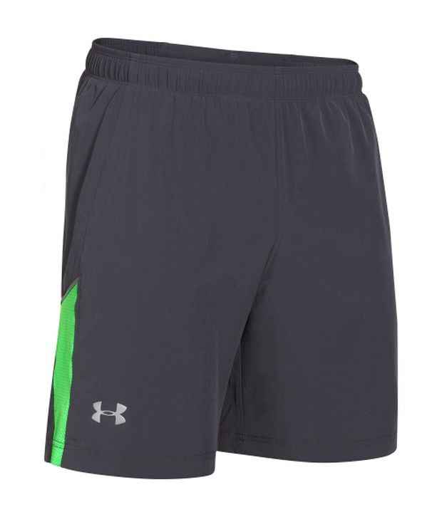 Under Armour Under Armour Grey Mens Launch Stretch Woven Running Shorts