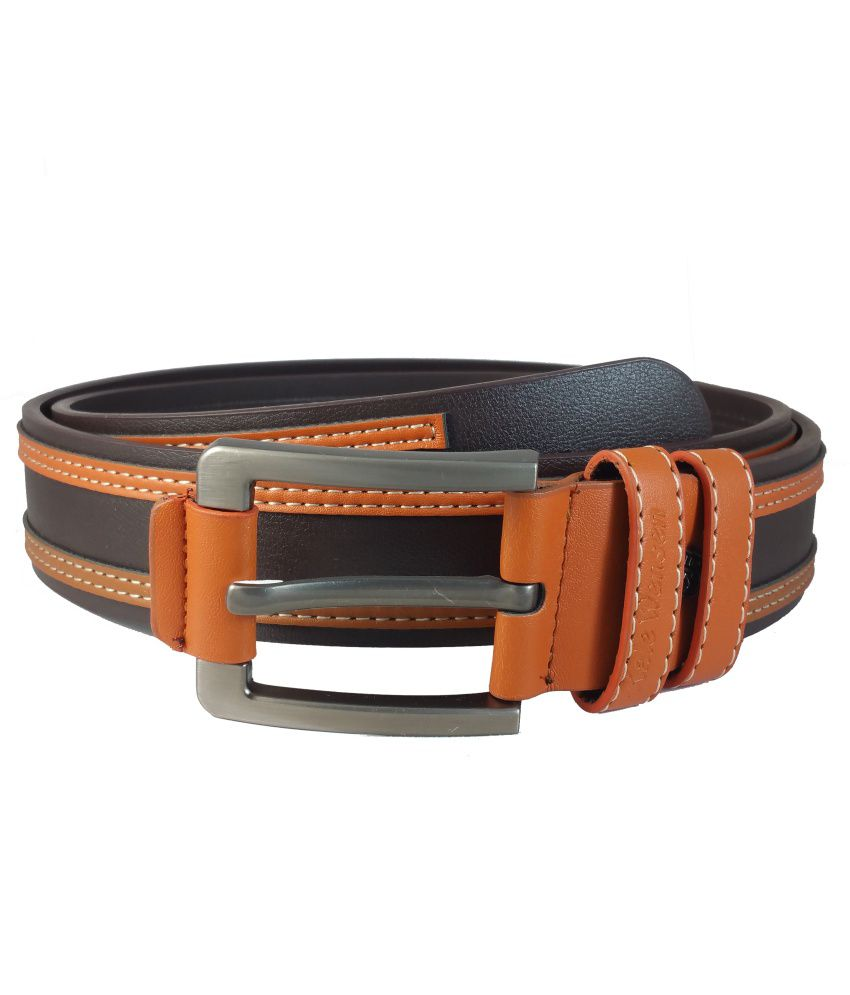 Ammvi Creations Brown Non Leather Belt For Men