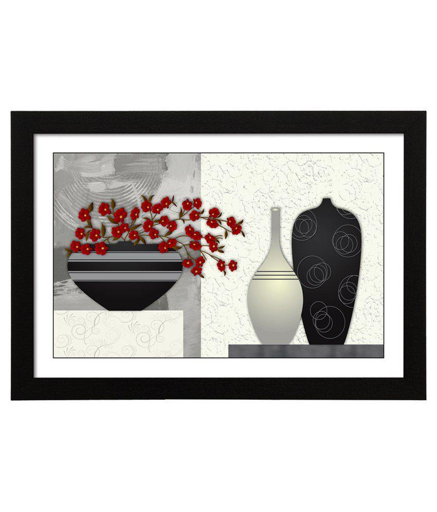 Delight Wooden Periwinkle Flower Digital Printed Uv Photo Frame