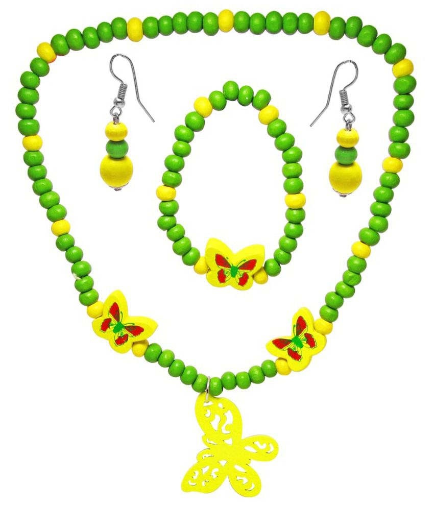 Jewelz Green Antique Necklace Set  available at snapdeal for Rs.153