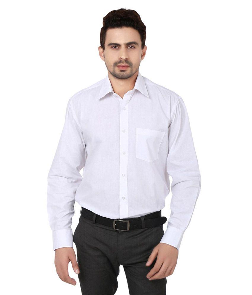 Focil white formal wear shirt for men buy focil white for Formal shirts for men online