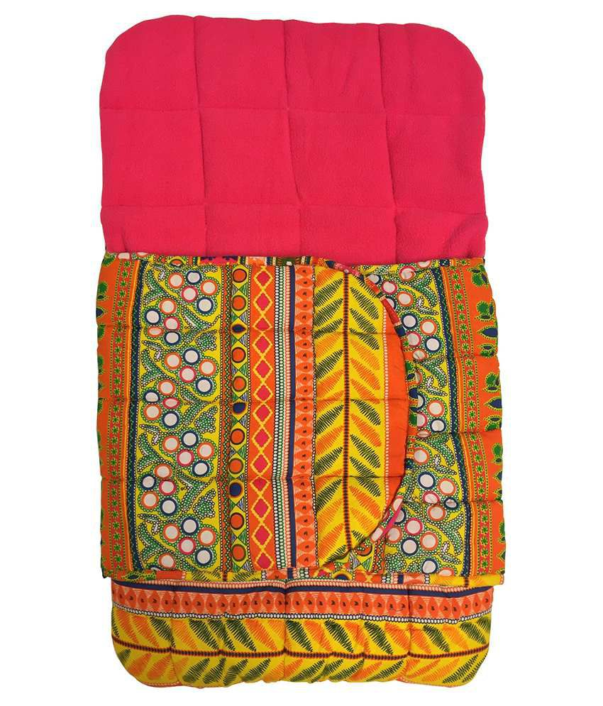Wobbly Walk Yellow & Pink Cotton Baby Sleeping Bag