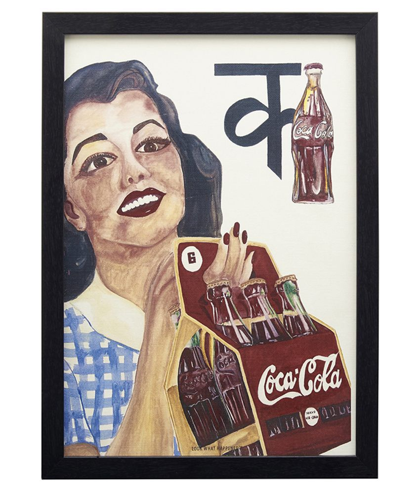 Look What Happen Coca Cola Painting With Frame