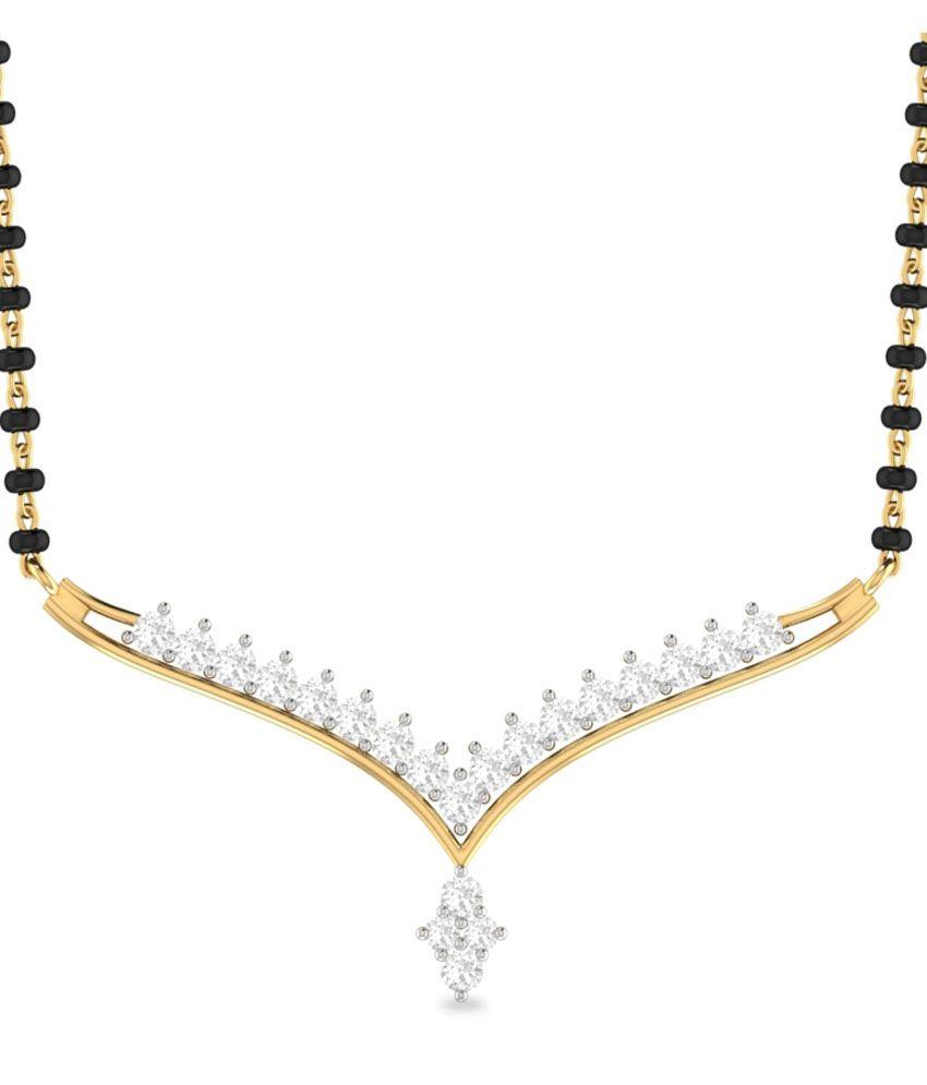 WearYourShine PC Jeweller 18KT Gold The Asmara Diamond Mangalsutra