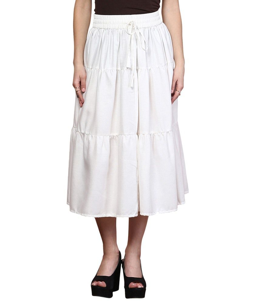 596915a26 Buy Yepme White Cotton Midi Skirt Online at Best Prices in India - Snapdeal