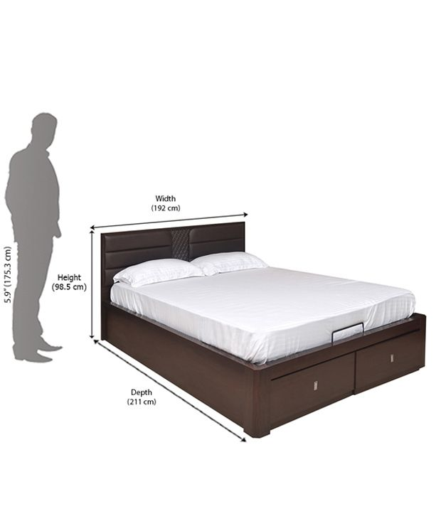 adjule king size beds reverie 5d adjule bed foundation dark brown