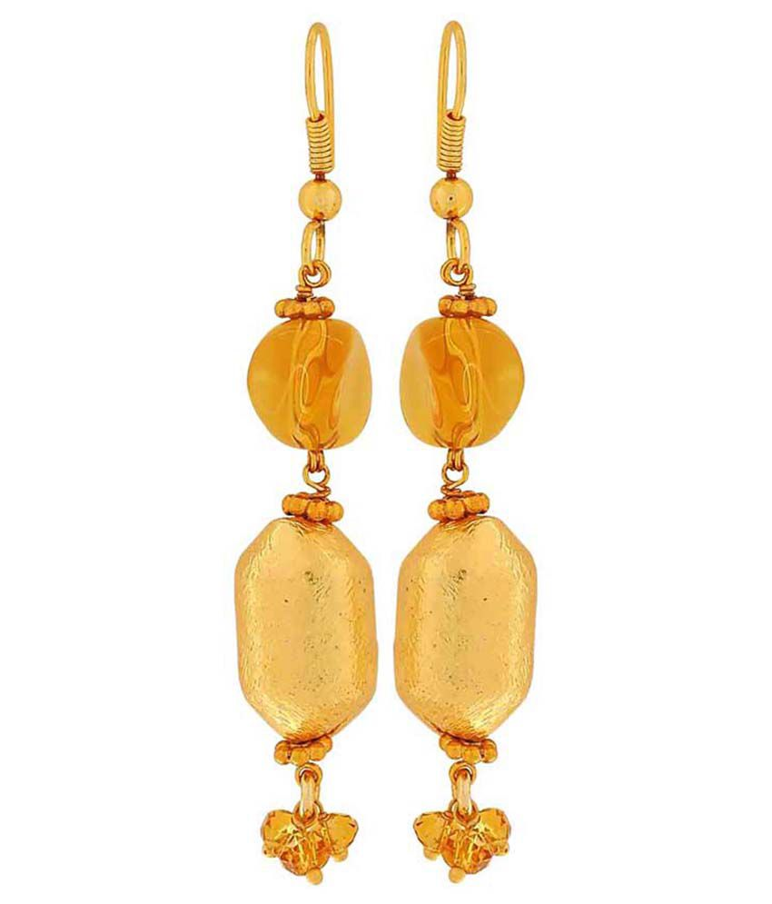 Maayra Multicolour Brass Hanging Earrings