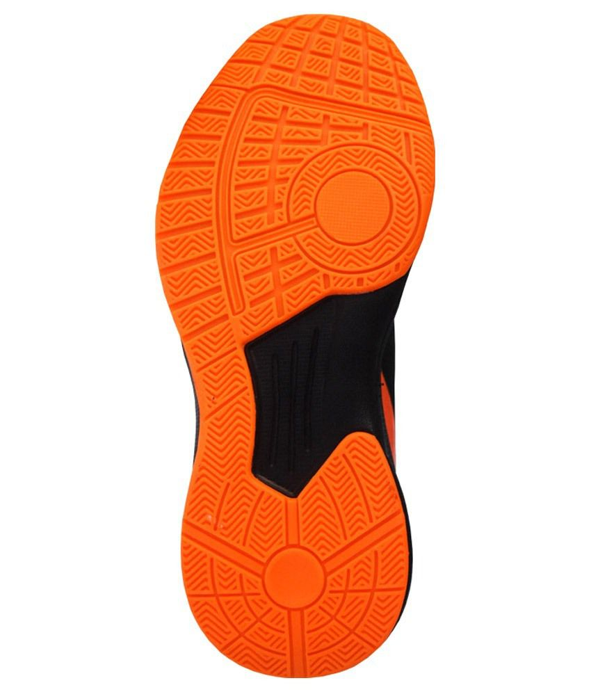 f083b1fe8ec8ce Vector X Boost Black   Orange Basketball Shoes  Buy Online at Best ...