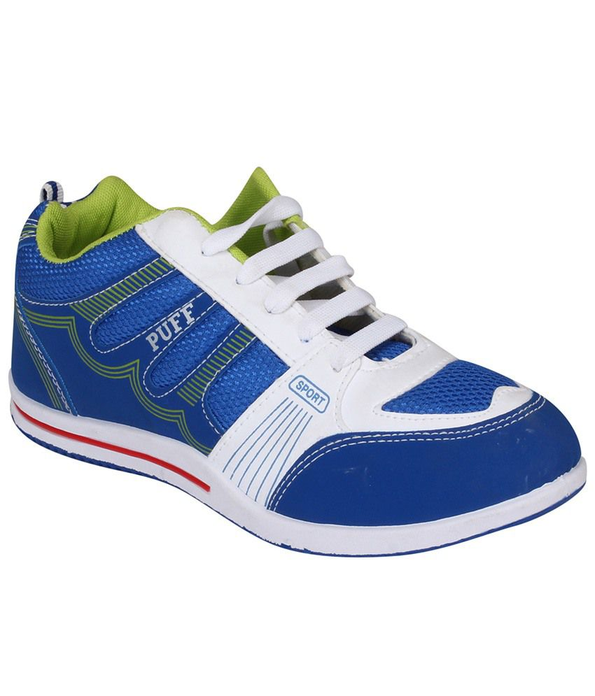 Tempo Blue And White Sports Shoes