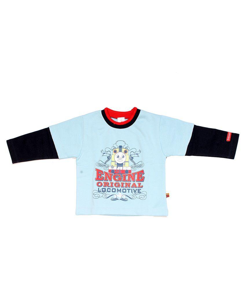 Babiano Blue Cotton T-shirt For Boy
