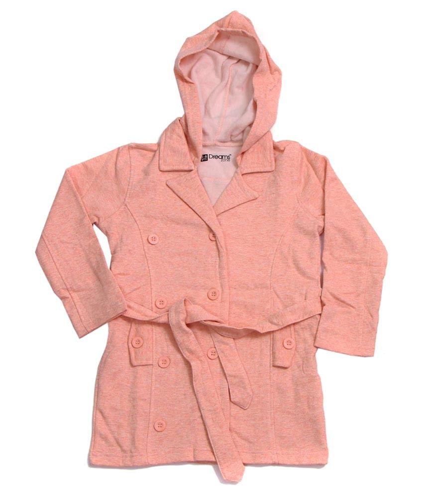 Dreamszone Orange Jacket For Girls