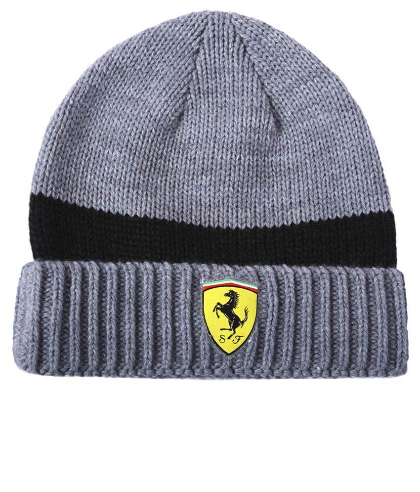 Puma Gray Ferrari Beanie Cap - Buy Online   Rs.  d504e5ccb29