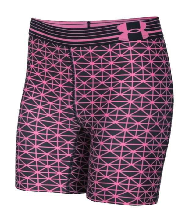 Under Armour Black and Pink Women's HeatGear Armour Printed Shorts (Pack of 2)