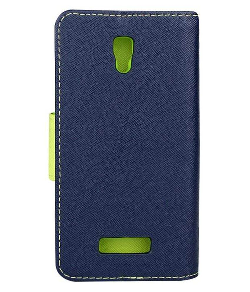 Uni Mobile Care Flip Cover For Lenovo A2010 - Blue