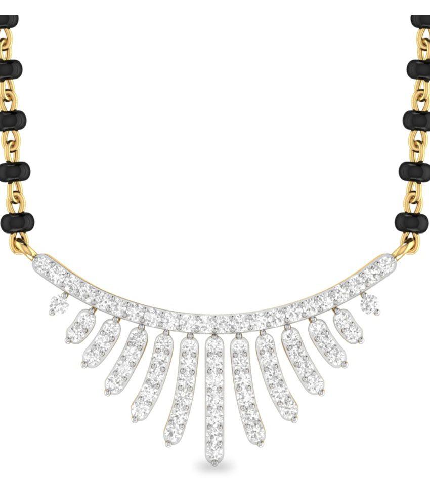 WearYourShine PC Jeweller 18KT Gold The Mayan Diamond Mangalsutra