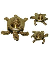 Swadesibuyzzar Brass Golden Meru Shree Yantra