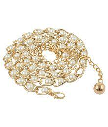 Alvaro Castagnino Gold Casual Belt For Women