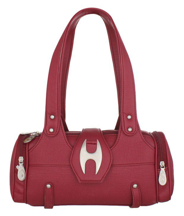 Aveo Red Smart Look Non leather Women handbag AB018