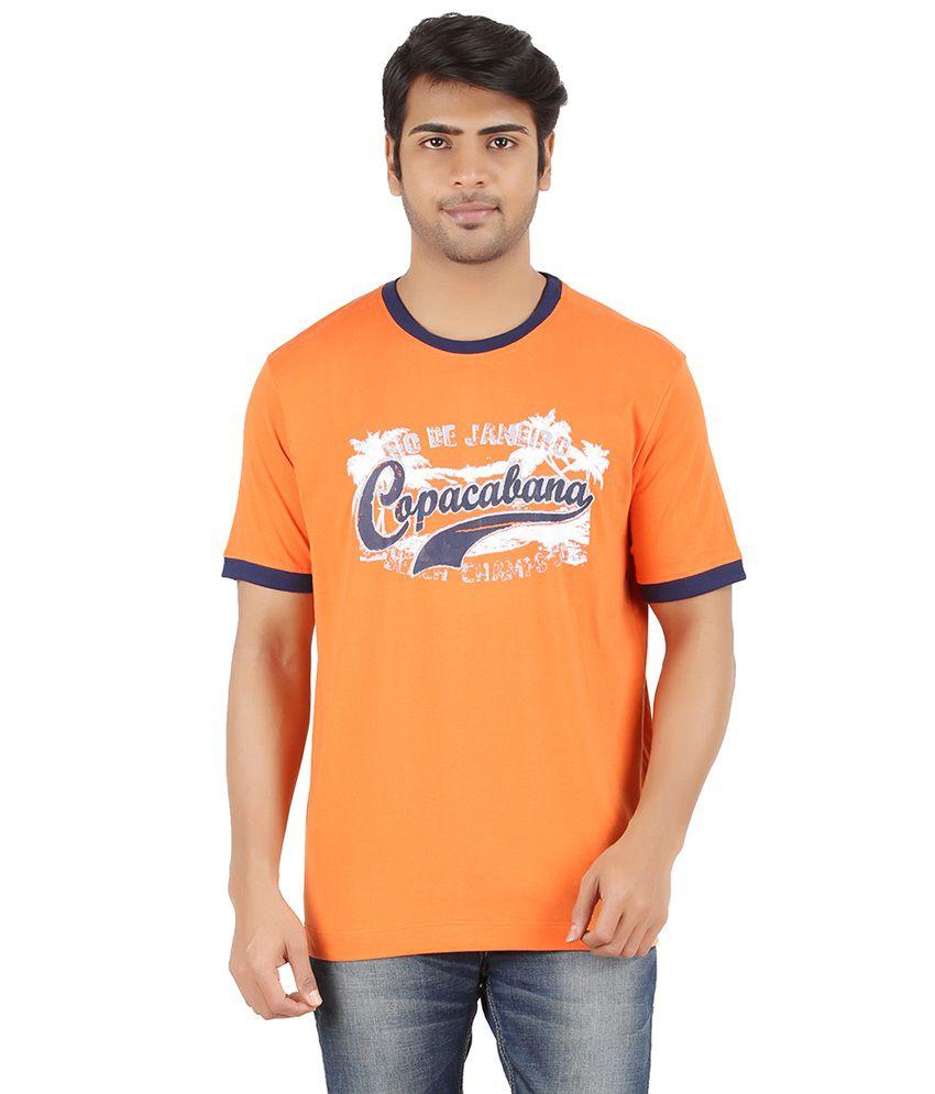 Furore Orange Cotton T-shirt