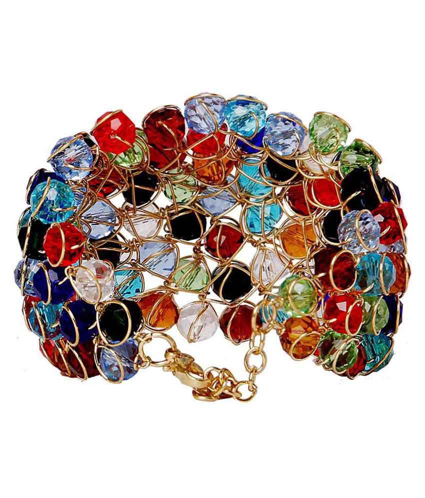 Jewels Gehna Multicolour Coloured Bead Alloy Bracelet