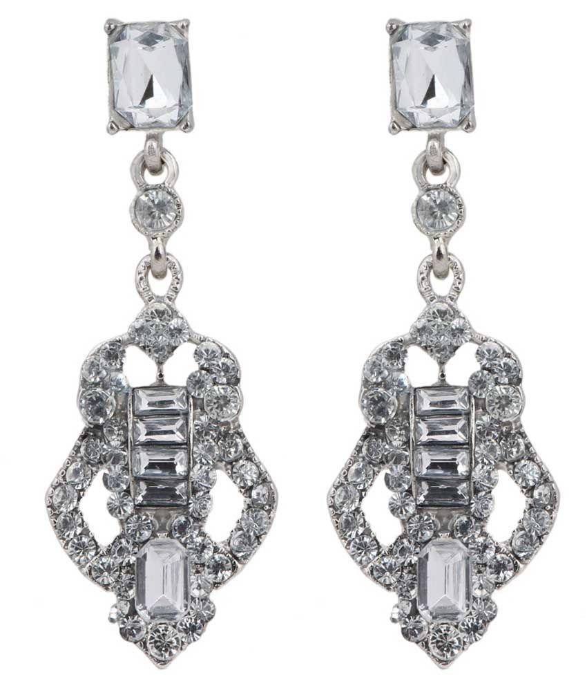 Stylefiesta Silver Drop Earrings
