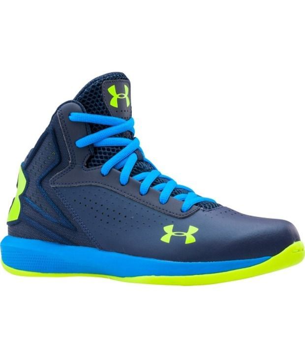more photos 2b100 f90a1 Under Armour Blue   Green Kids Grade School Micro G Torch Basketball Shoes   Buy Online at Best Price on Snapdeal