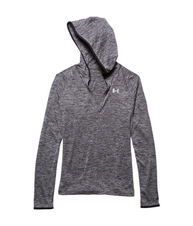 Under Armour Grey Women's Tech Twist Print Long Sleeve Hoodie