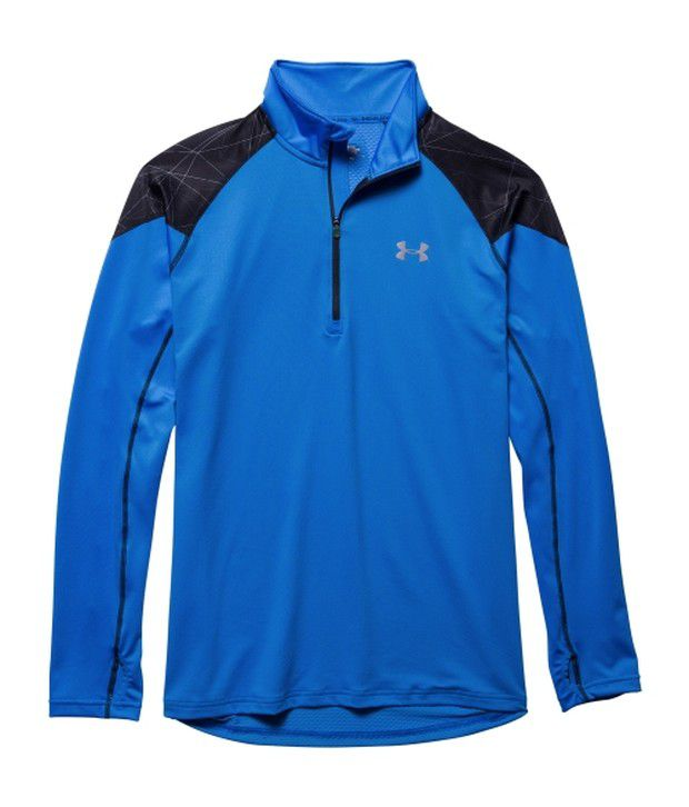 Under Armour Grey and Blue Men's ColdGear Infrared Running Quarter-Zip Long Sleeve Shirt (Pack of 2)