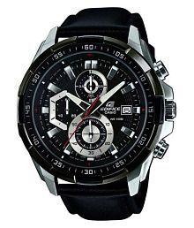 Men Fashion EX193 Black Leather Chronograph Watch