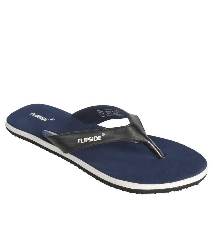 Flipside Womens Velvet Blue Slippers