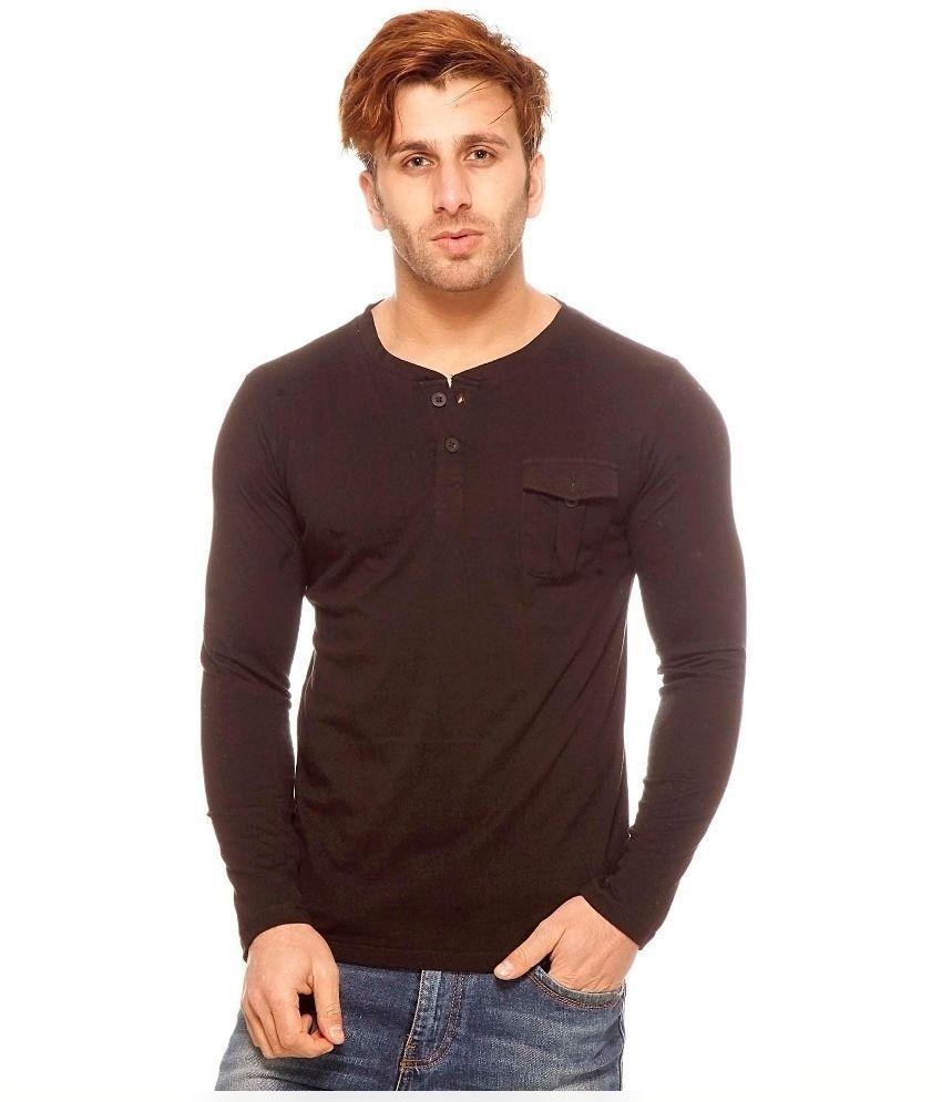 Gritstones Black Cotton T-Shirt