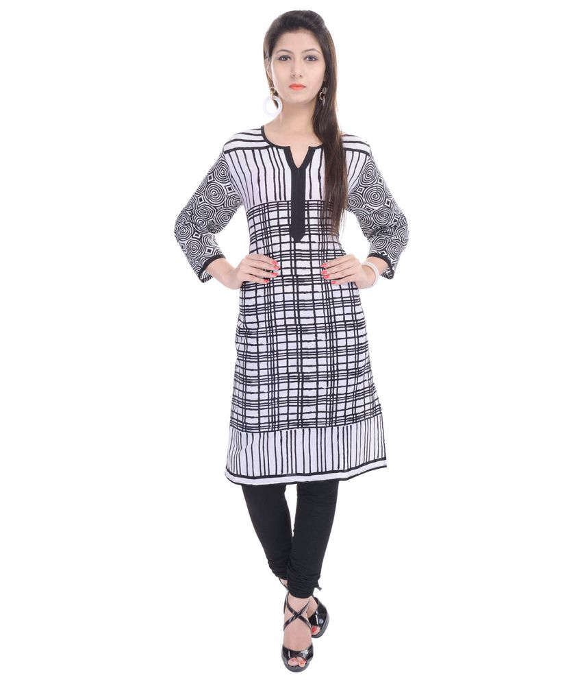 Haritage Jaipur Black Cotton Kurti