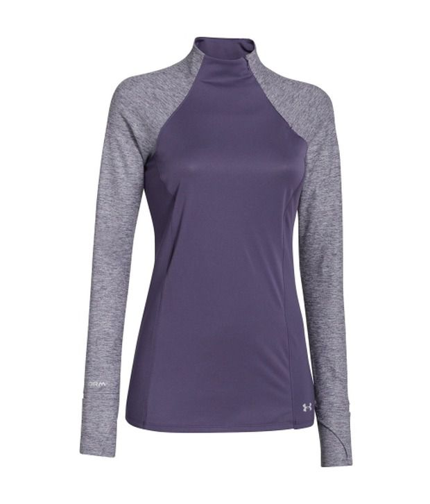 Under Armour Under Armour Women's Storm Heather T-neck Long Sleeve Shirt Twilight Purple/ref