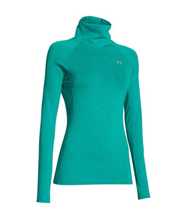 Under Armour Under Armour Women's Coldgear Cozy Neck Long Sleeve Shirt Downtown Green