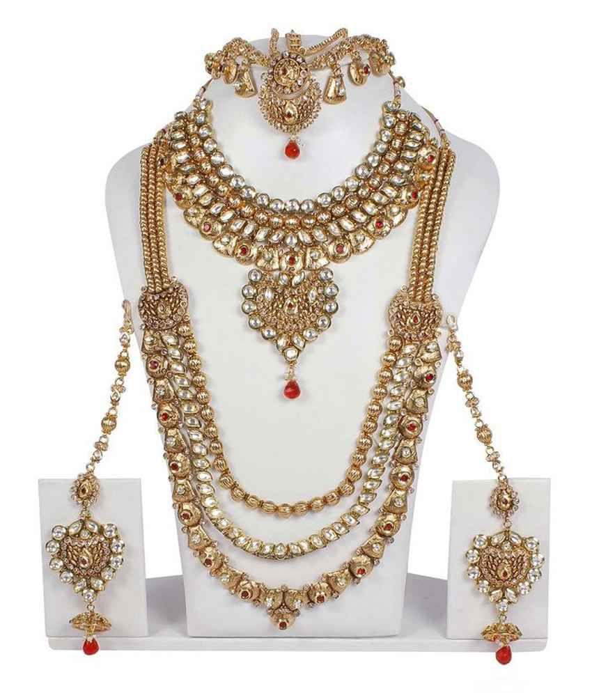 21b969eb0 Much More Multicolour Alloy Kundan Bridal Necklace Set - Buy Much More  Multicolour Alloy Kundan Bridal Necklace Set Online at Best Prices in India  on ...