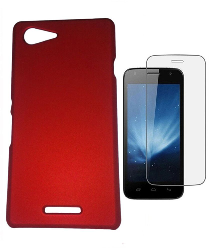 new style 36ff3 5114d Zocardo Back Cover For Sony Xperia M3 - Red With Tempered Glass