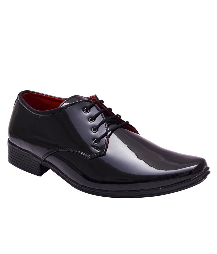 bxxy black patent lace up derby formal shoes available at