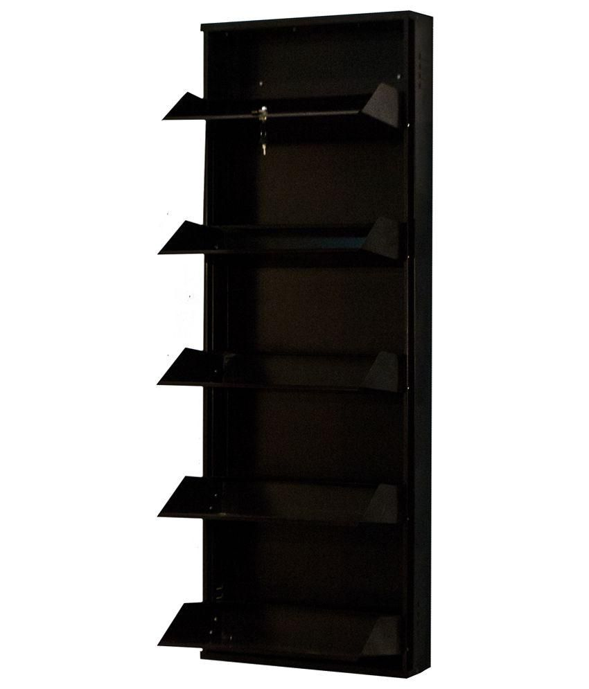 Delite Kom Powder Coated 5 Door 24 Inch Steel Shoe Rack