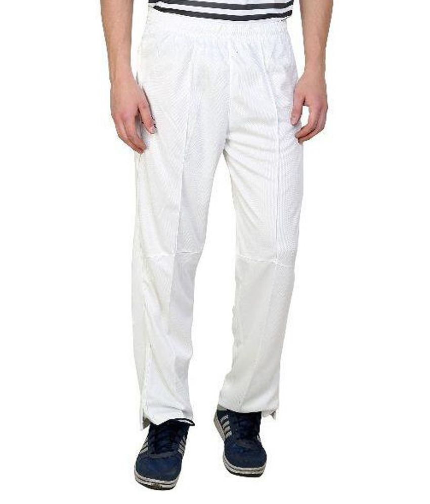 Dida White Cricket Trackpant