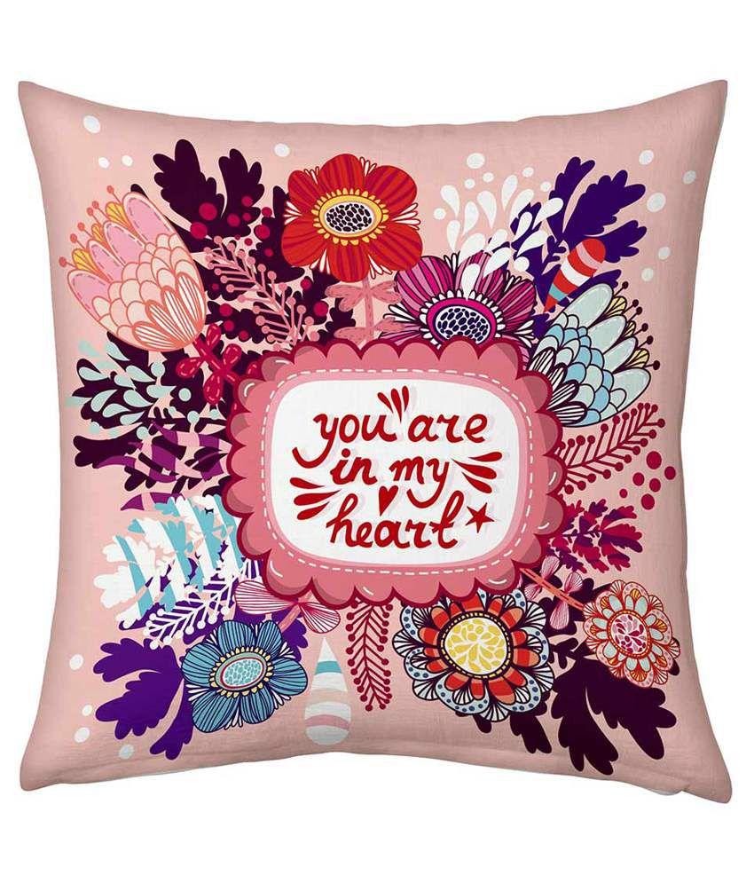 Jaipur Raga Multicolour Cotton Printed Cushion Cover - Pack Of 2