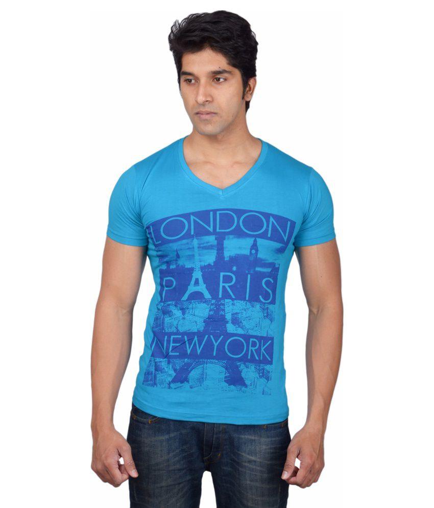 Tavara Blue Cotton T-shirt