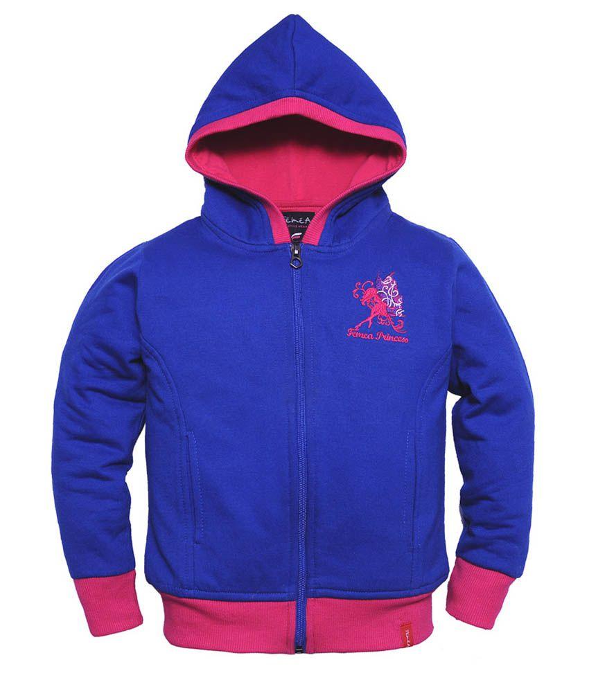 Femea Blue Fleece Sweatshirt
